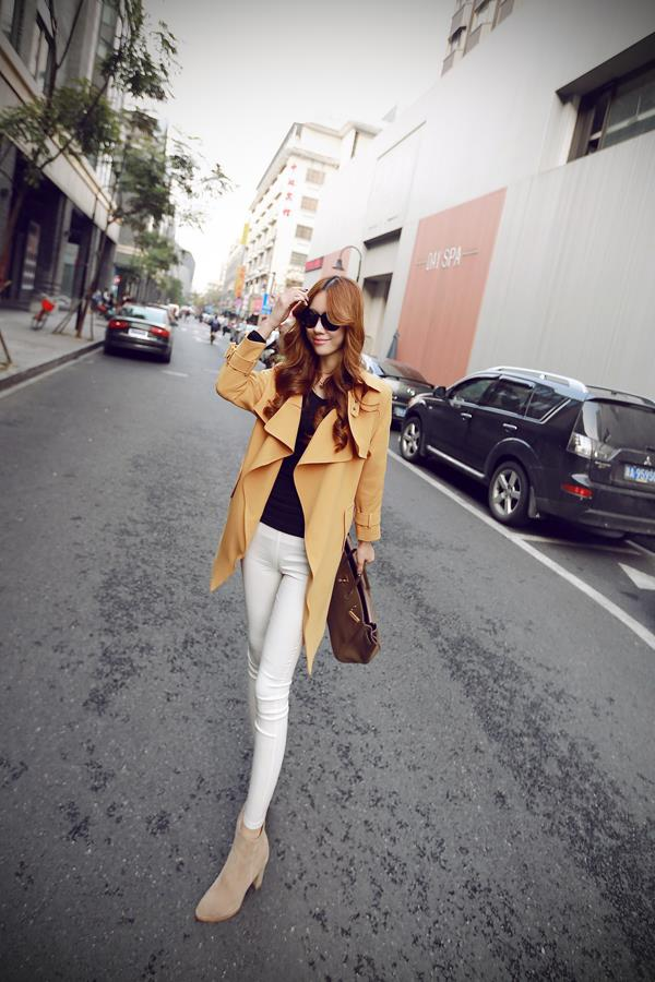 LUVVIESTYLE - Trendy Korean Wind Coat Yellow J67096