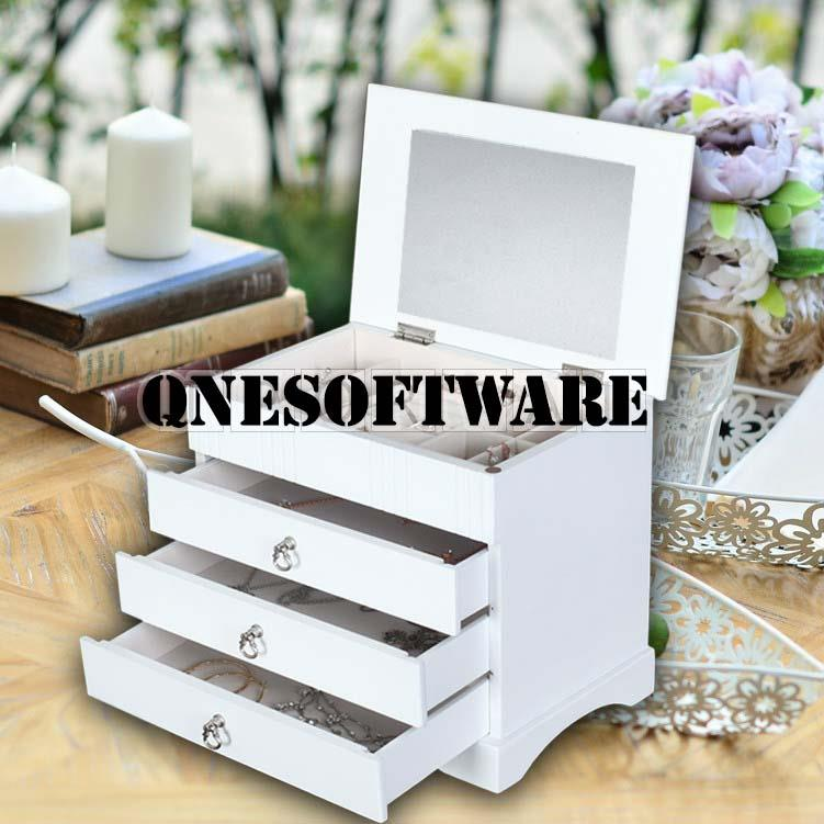 Luxury Wooden High Quality Jewellery box (White Color)