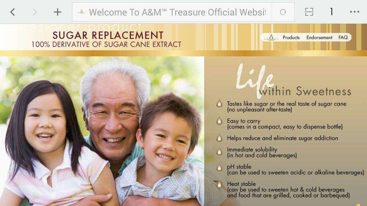 A & M Treasure Drop Natural Sugar Repalcement