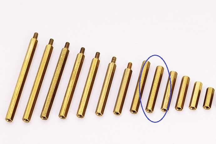 M3 X 15 Hex Brass Standoff Screw for PCB Spacer (5pcs per pack)