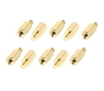 M3 X 8 + 6 Hex Brass Standoff Screw for PCB Spacer (10pcs)