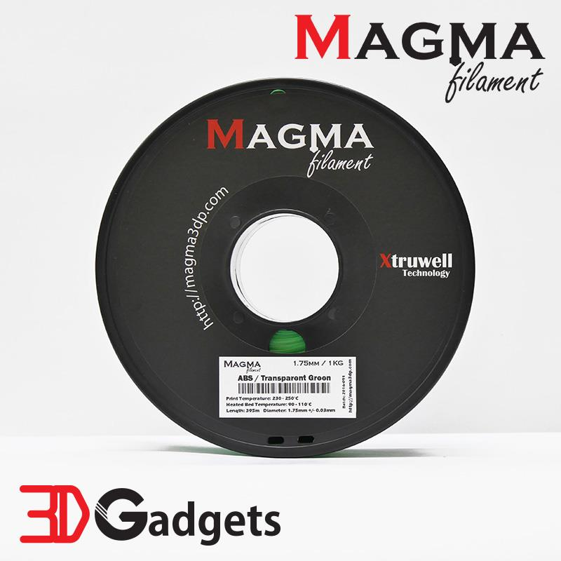 Magma 3D Printer Filament ABS 1.75mm 1KG - Transparent Green
