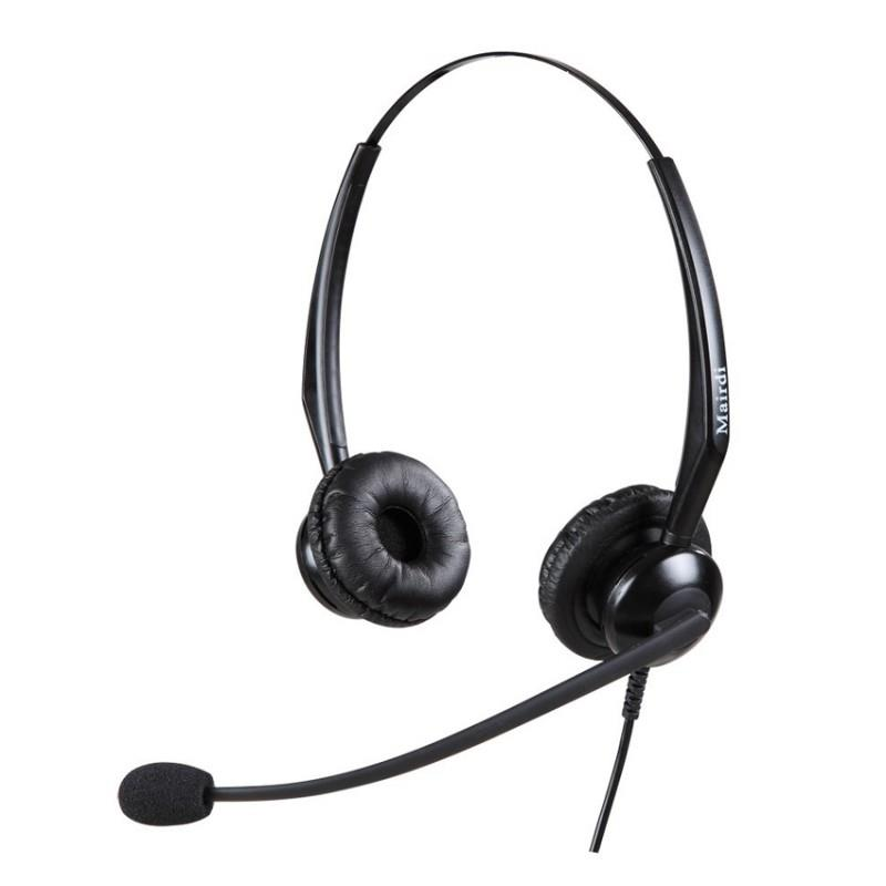 Mairdi Binaural Noise Cancelling Headset 308 with RJ9 Plug