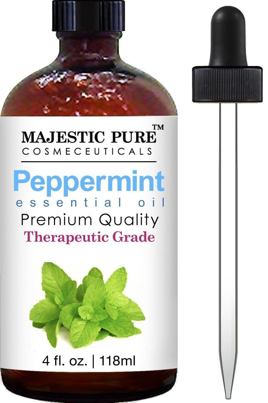 Majestic Pure Therapeutic Grade Peppermint Essential Oil with Dropper