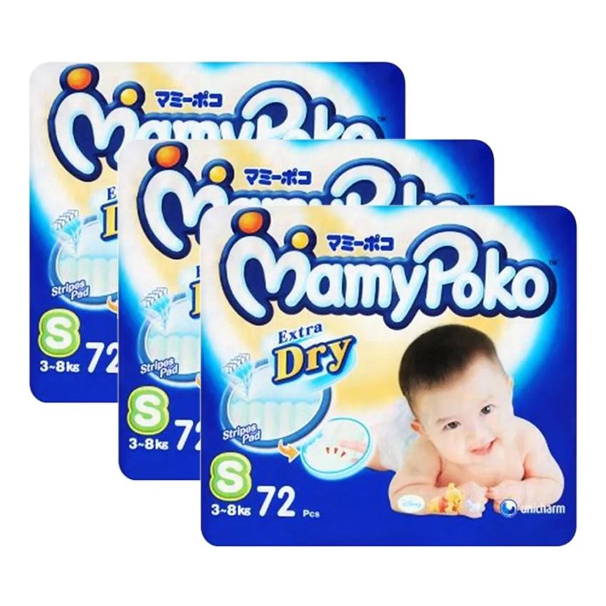 Mamypoko Extra Dry Diaper Super Jumbo Pack S72 (3-8kg) (3 packs)