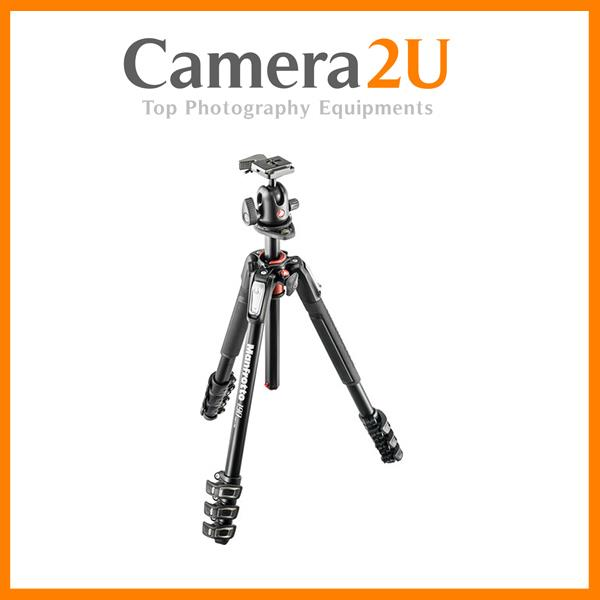 NEW Manfrotto MK190XPRO4-BH Aluminum Tripod with 496RC2 Ball Head