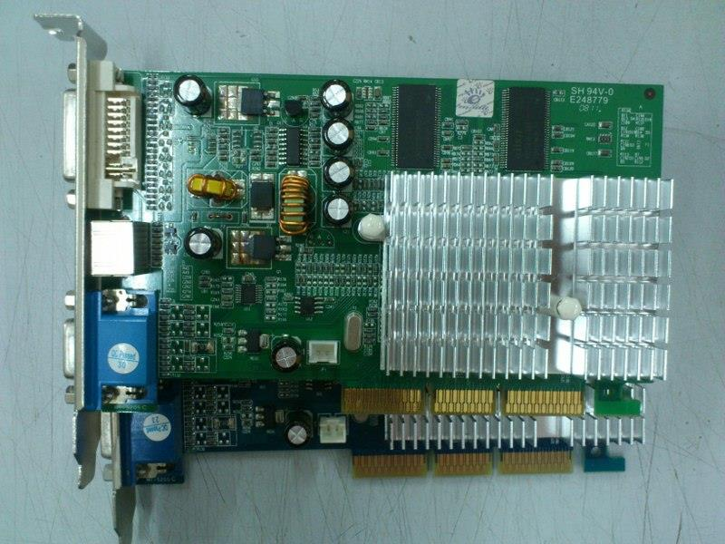 Manli GeForce FX5500 256MB DDR AGP Graphic Card 030614