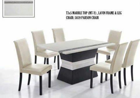 MARBLE TABLE DINING SET CHAIR 1+6 SPECIAL PRICE CHINESE NEW YEAR SALE