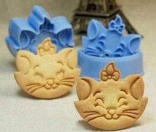 Marie Cat Cartoon Cookies / Fondant Cutter Set (2 pcs)