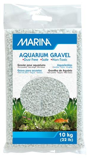 Marina Cream White Decorative Aquarium Gravel - 10 kg