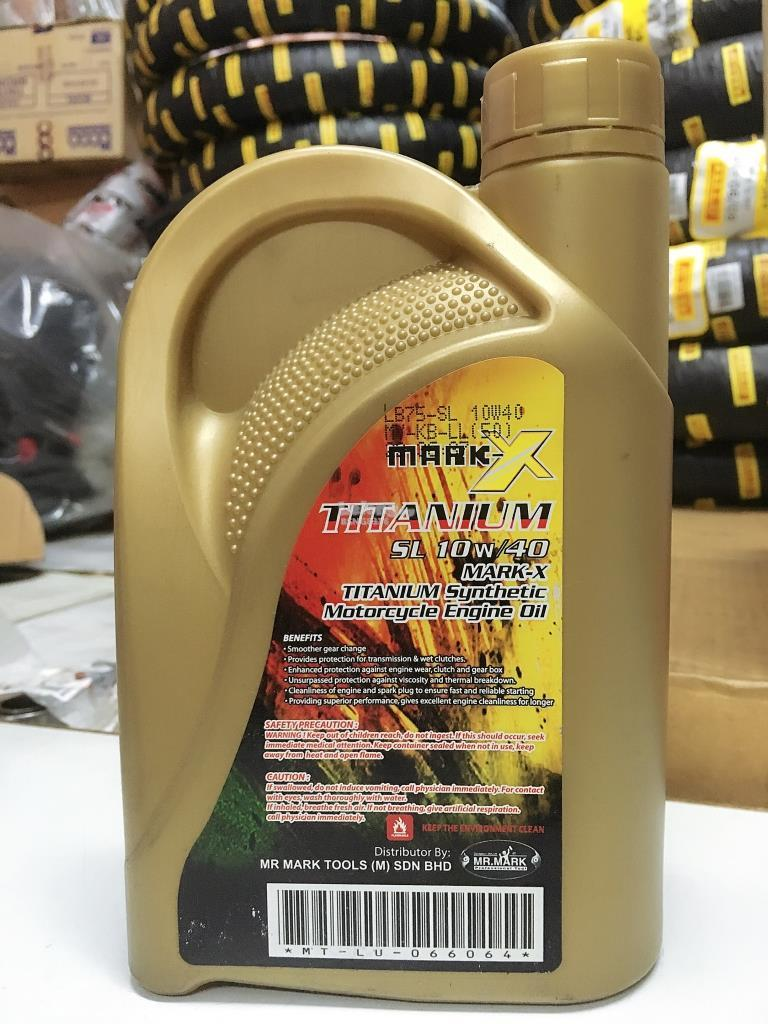 Mark X Titanium 10W40 Motorcycle Engin Oil 4T 1L