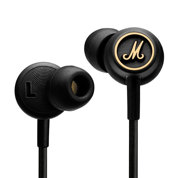 MARSHALL Mode EQ Black & Brass - Headphones for iOS and Android