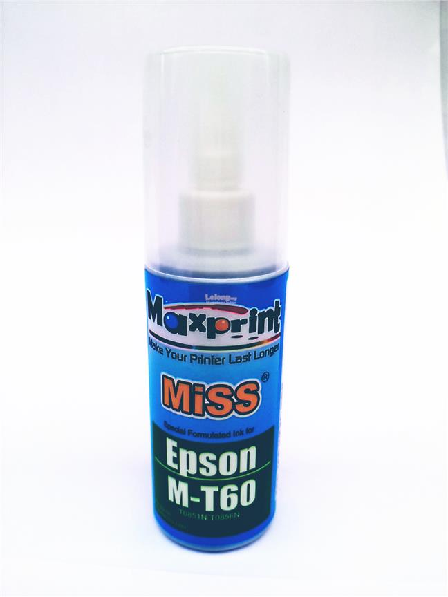 MAXPRINT EPSON M-T60 CYAN REFILL INK 100ML