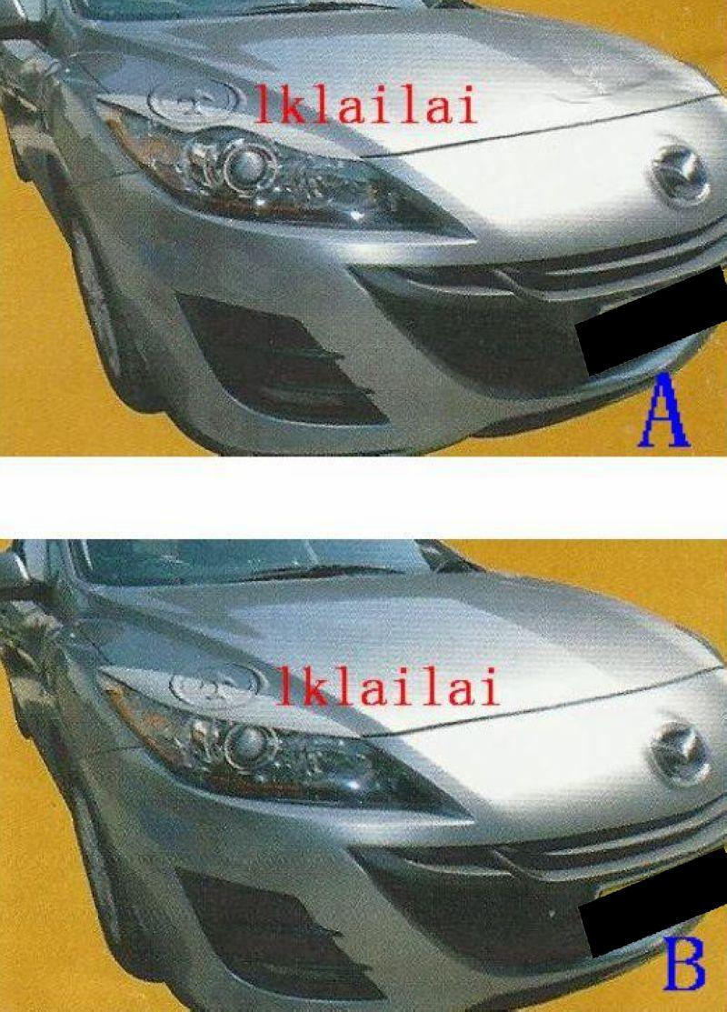 Mazda 3 Eye Lip Cover Fiber No Paint Per Pair [A / B Style]
