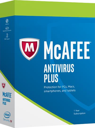 McAfee AntiVirus Plus 2017 2YEAR 3PC Internet Security anti virus
