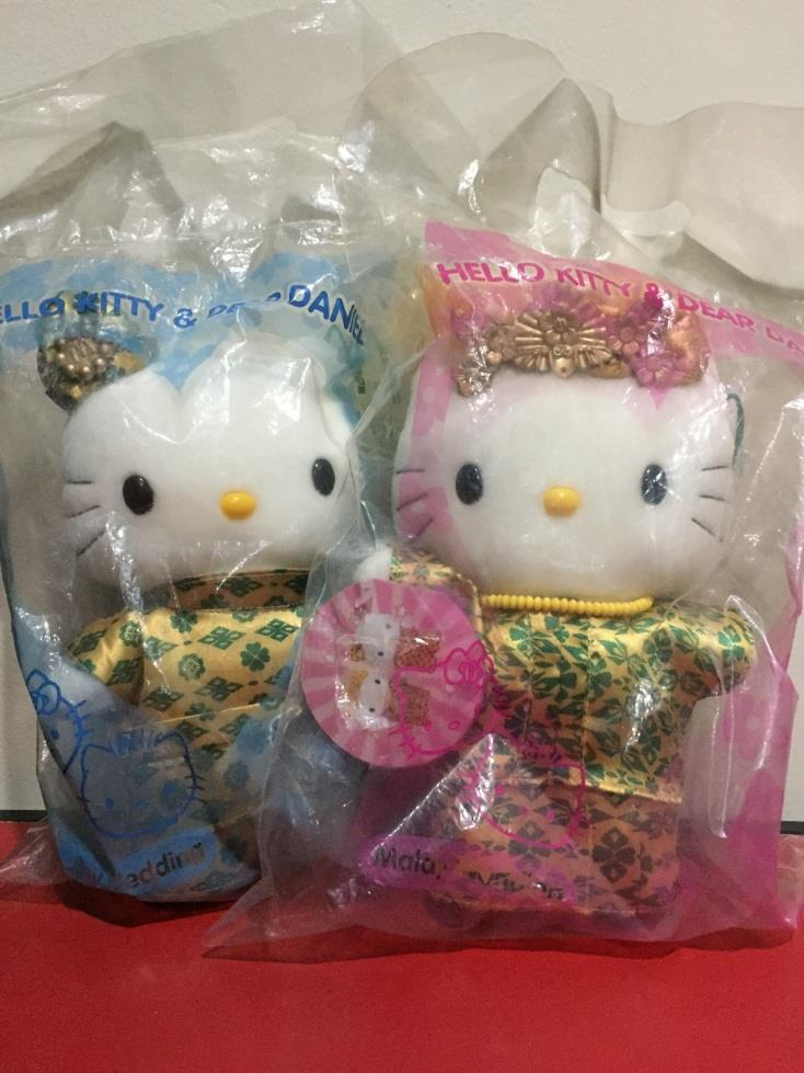 McDonald's Hello Kitty & Dear Daniel Malay Wedding Plush Toy Doll