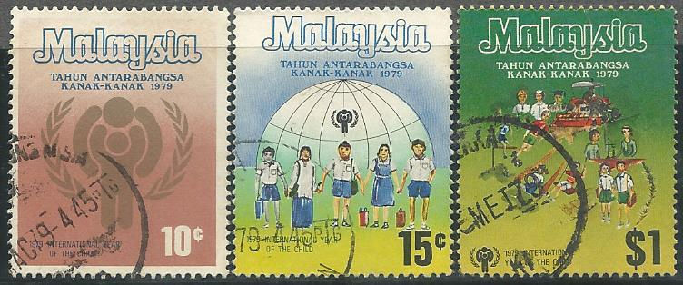 MCU-19790224 M'SIA 1979 INT YEAR OF THE CHILD 3V USED