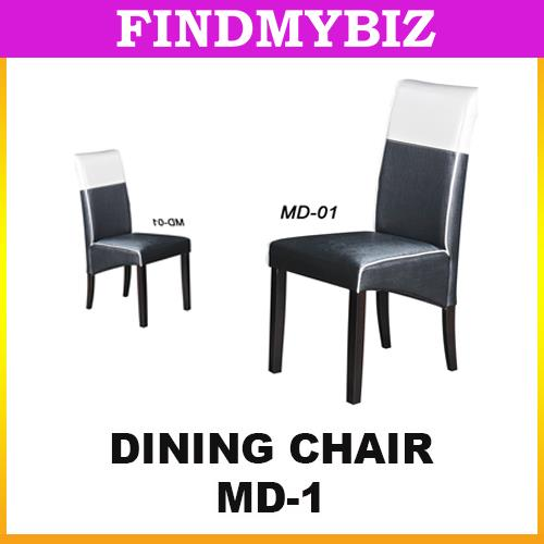 MD-01 PREMIUM PU LEATHER RESTAURANT CAFE DINING ROOM CHAIR TABLE BLACK
