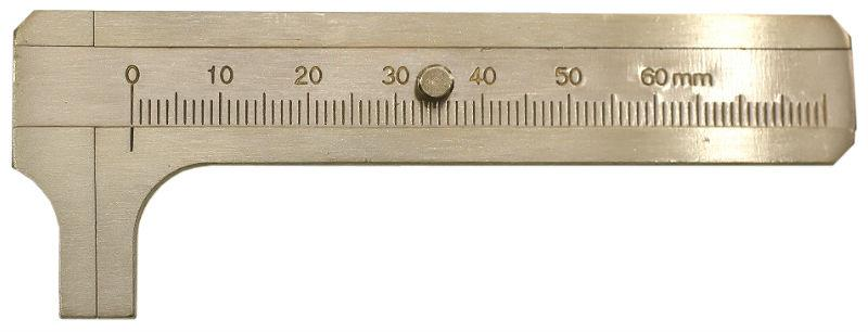 Measurement,Caliper, Brass Sliding Gauge