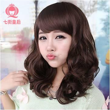 Medium curve wig ds6/ready stock/rambut palsu