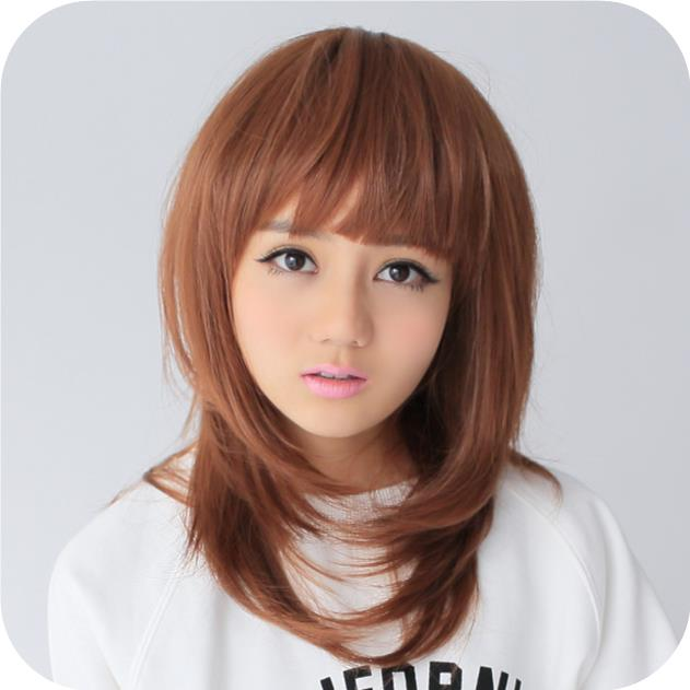 medium hair wig opi1/ ready stock/ rambut palsu