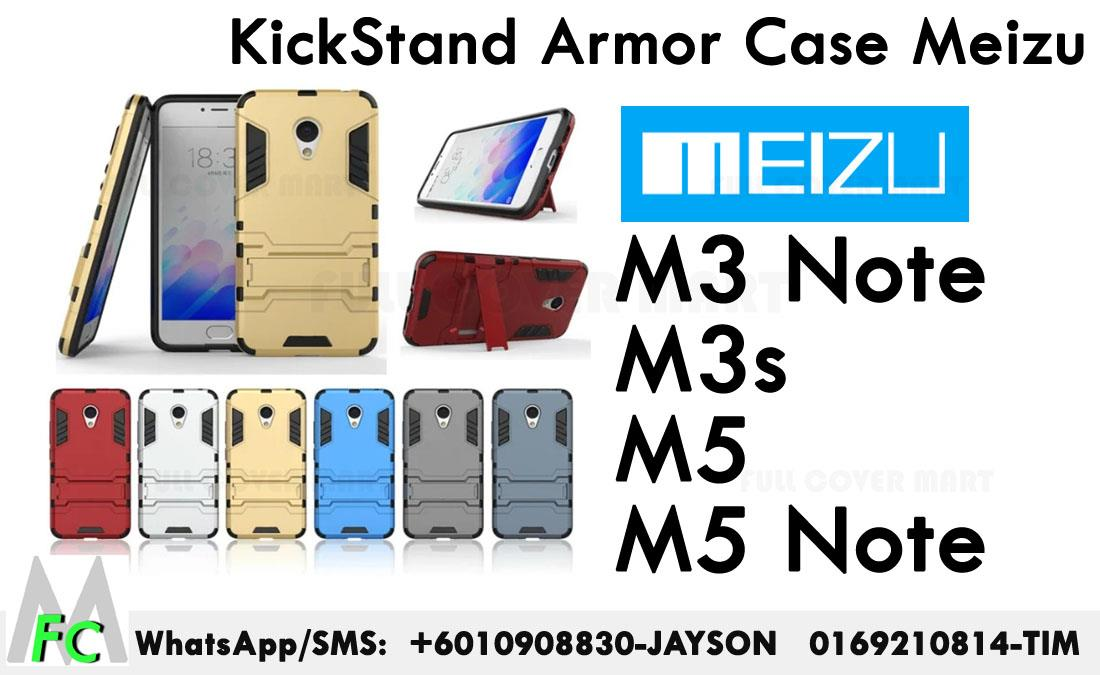 Meizu M3note M3s M5 M5 Note  Standable IRONMAN Case Stand Armor  Cover