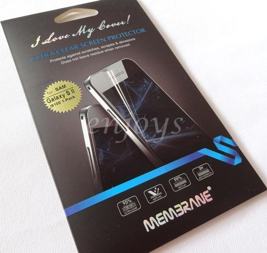MEMBRANE Ultra Clear Screen Protector Samsung I9100 Galaxy S II I9105