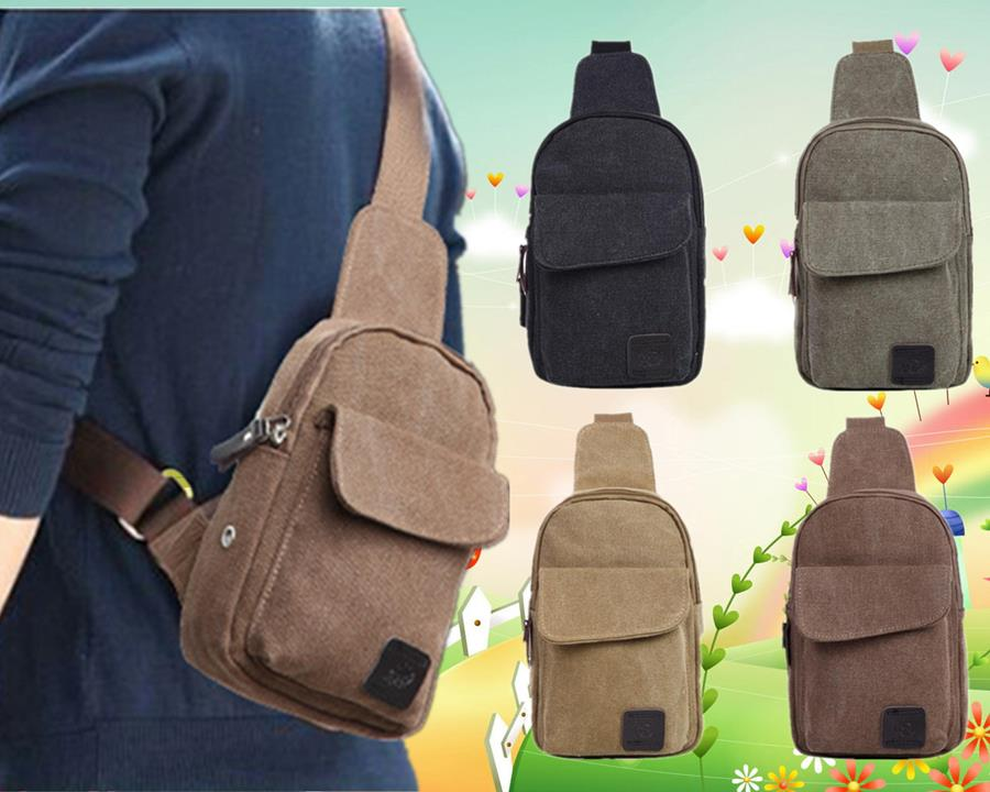Men Canvas Shoulder Pouch/Crossbody (end 3/10/2018 7:58 PM)