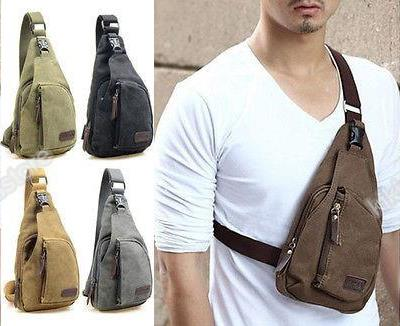 Men Canvas Shoulder Pouch Crossbody (end 5/20/2016 5:15 PM)