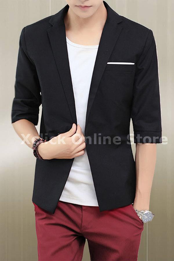 Men coat- Korean Slim short sleeve