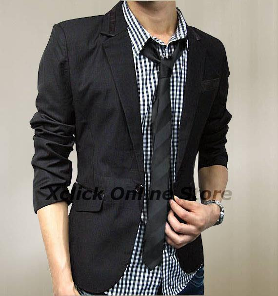Men Coat- Korean version of casual men- Black