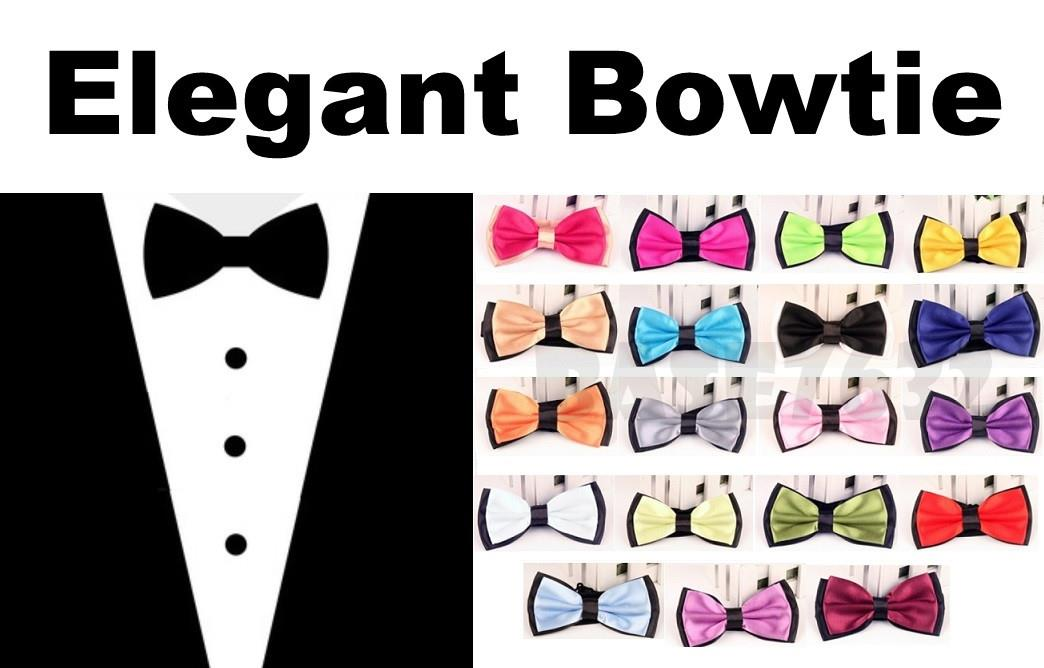 Men Fashion 2 Two  Dual Double Layer Colour Color Bowtie Bow Tie