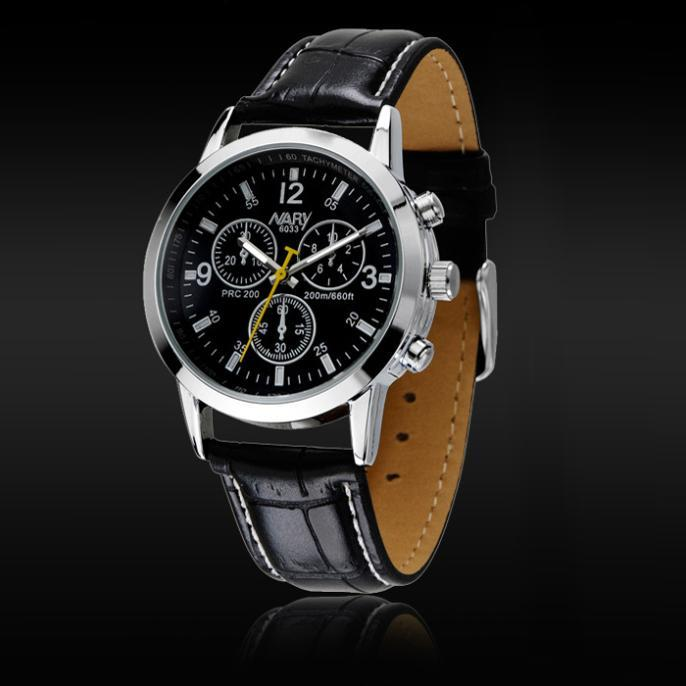 Men Quartz Leather Watch