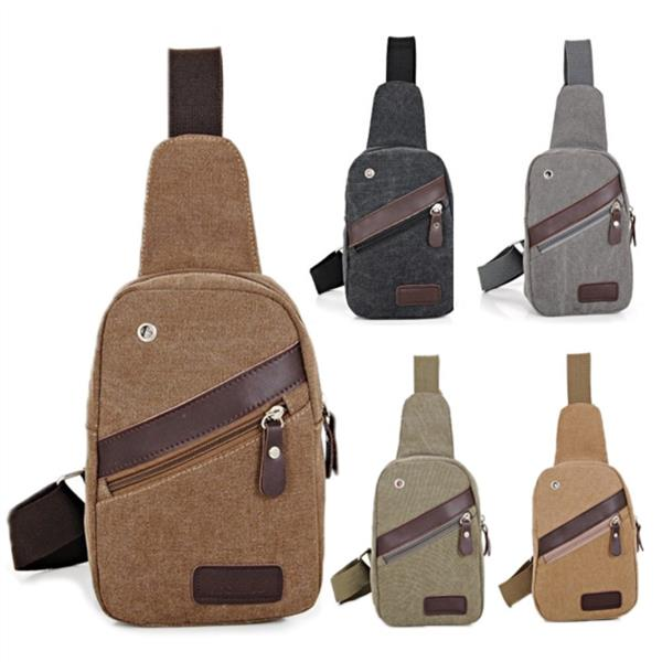 Men or Wome Canvas Military Messenger Shoulder Travel Hiking Chest Bag