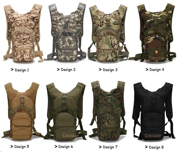 Men Women Outdoor Sport Hiking Backpack Bag Army Camouflage Black