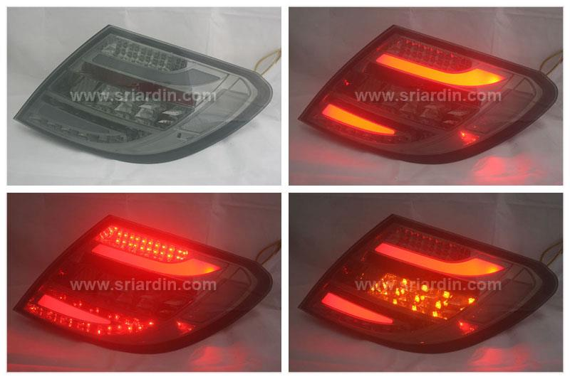 Mercedes Benz C Class W204 07-11 Smoke Light Bar LED Tail Lamp  Pa