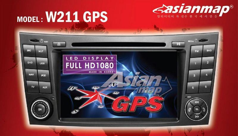 MERCEDES BENZ E-Class W211 02-08 ASIAN MAP 2-Din DVD WITH GPS PLAYER