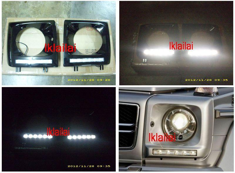 Mercedes Benz G-Class W463 `86-11 Head Lamp Cover With DRL [W463-HL01-