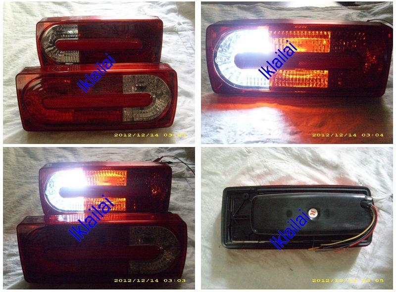 Mercedes Benz G Class W463 Crystal Tail Lamp Red/Clear [AMG Look]