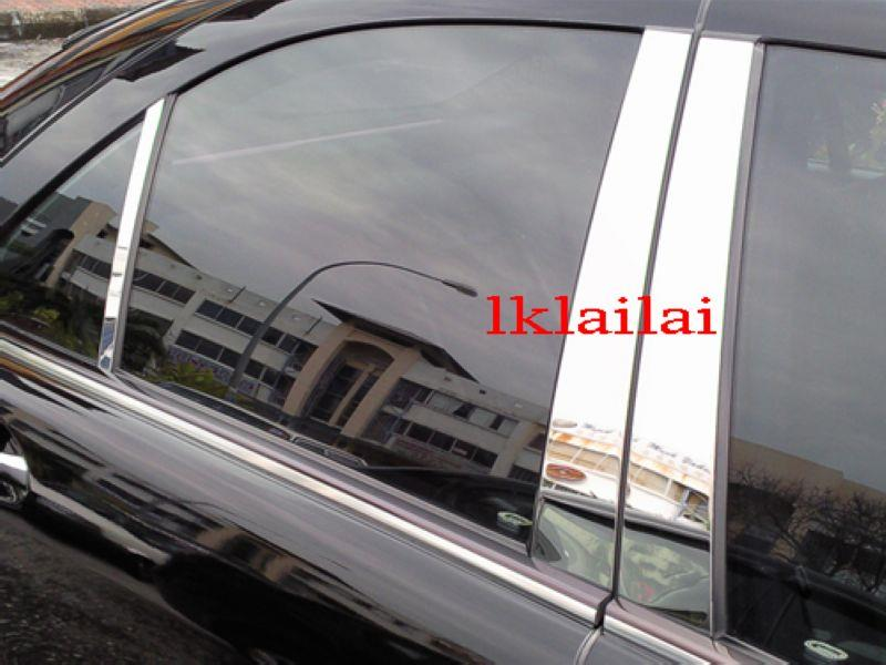 Mercedes Benz W163 `98-04 Pillar Cover Chrome S/Steel [6pcs/set]