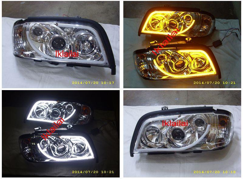 Mercedes Benz W202 '94-99 Projector Head Lamp + 2-Function LED DRL R8