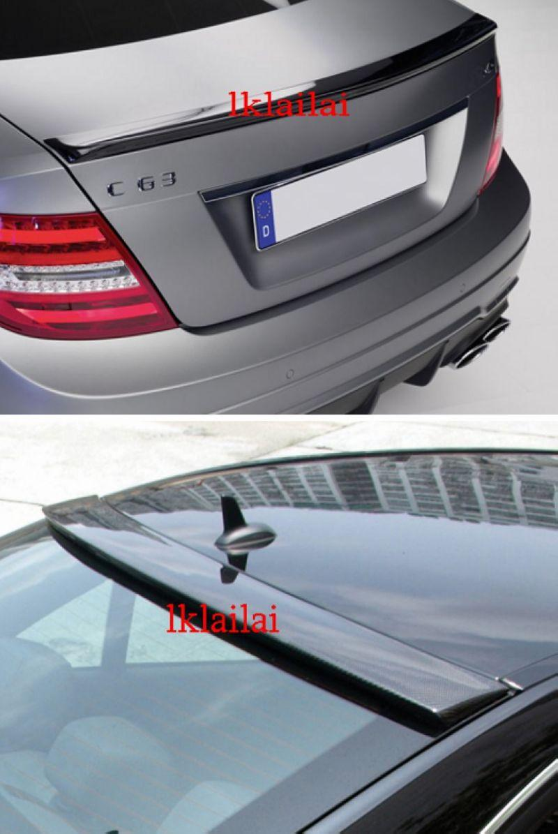 Mercedes Benz W204 `07 2D Coupe Rear Roof & Trunk Spoiler ABS