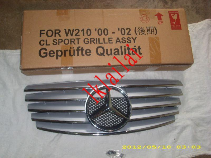 Mercedes Benz W210 '02 Facelift CL Sport Front Grille [Silver/Black/Wh