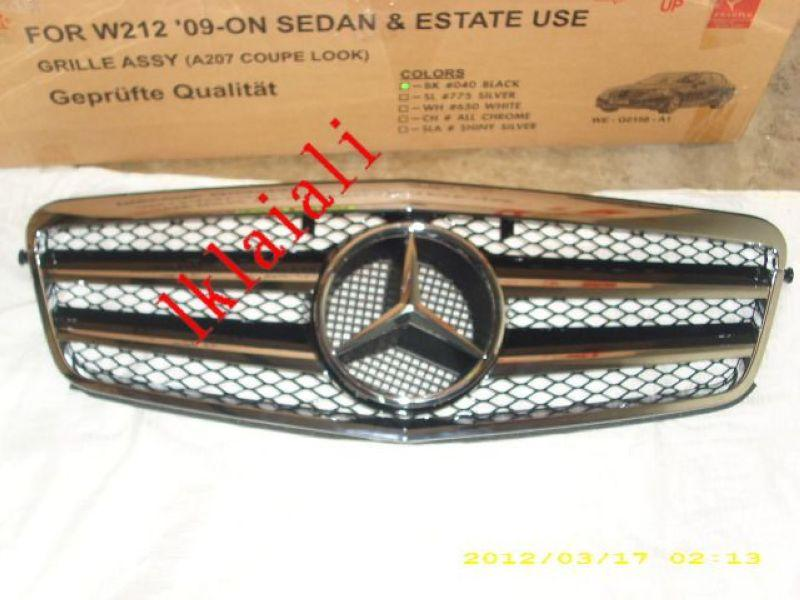 Mercedes Benz W212 `09-10 Front Grille SL Style [Black Chrome]