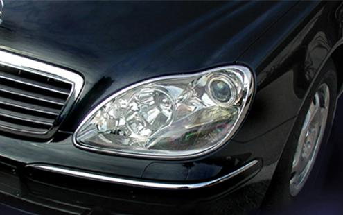 Mercedes Benz W220 `98/`02 HEAD LAMP RIM CHROME