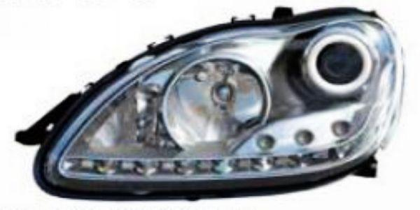 Mercedes Benz W220 Ring Projector Head Lamp R8 LED DRL Look