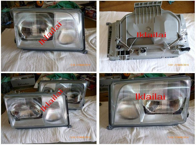 Mercedes W124 '86-95 Ori Head  Lamp Glass Lens [per pair]