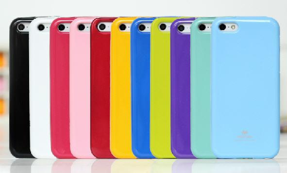 Mercury Apple iPhone 4S 5S SE 6 6S Plus Slim Back Cover Jelly Case