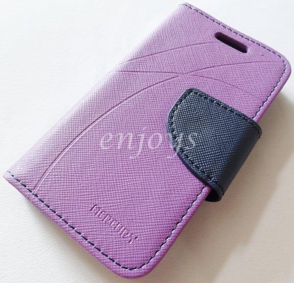 MERCURY Fancy Diary Book Case Cover Pouch Apple iPhone 4 4S ~PURPLE
