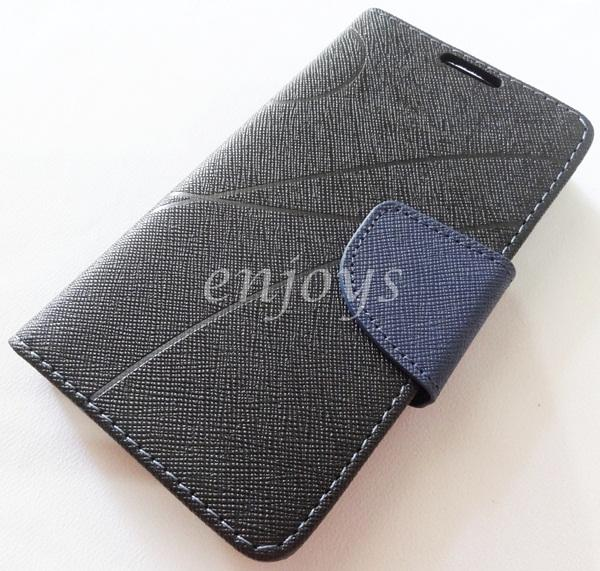 MERCURY Fancy Diary Book Case Cover Pouch Lenovo A390 ~BLACK
